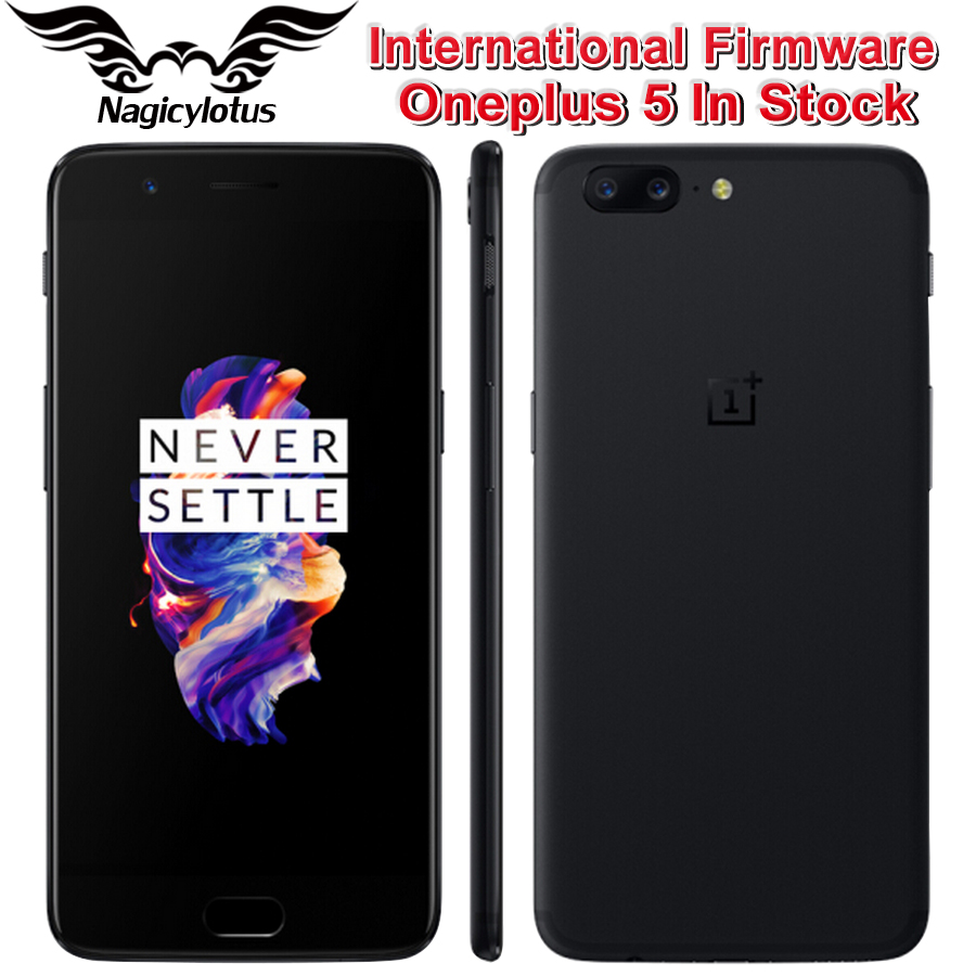 Original OnePlus 5 Smartphone 5.5''4G LTE Snapdragon 835 Octa Core 6GB 64GB 20.0MP 16.0MP Global 4G Android 7.0 NFC Fingerprit