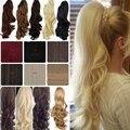 Горячая Стильный Конский Хвост Женщины Клип в Хвост Вьющиеся Парики Из Синтетических Волос Бесплатная доставка