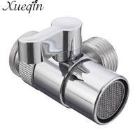 Xueqin Home Bathroom Kitchen Basin Sink Faucet Brass Diverter Polished Chrome Water Tap Filter Valve Replacement