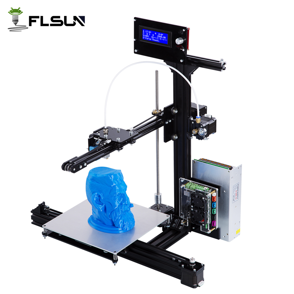 2018 LCD DIY 3d Metal Printer, Large Printing Size 3d-Printer Machine 3d Printer Kit With 2 rolls Filament 2GB SD Card For Free large buid size newest kossel k280 delta 3d printer 24v 400w power with auto level and heat bed two rolls of filament gift