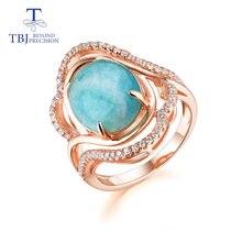 Кольца из амазонита tbj ювелирные изделия розового золота с