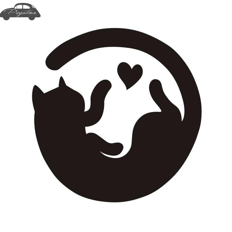 Pegatina Car Cat Sticker Pet Shop Decal Posters Vinyl Wall Art Decals Quadro Parede Decor Mural Cat Pussy Sticker