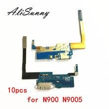 AliSunny 10 pcs Poort Opladen Flex Kabel voor SamSung Note 3 N900 N9005 Charger Mic Dock Connector Usb poort Vervanging onderdelen
