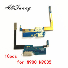 AliSunny 10 pcs de Carregamento Carregador Porto Cabo Flex para SamSung Nota 3 N900 N9005 Microfone Conector Dock Porta USB Substituição partes