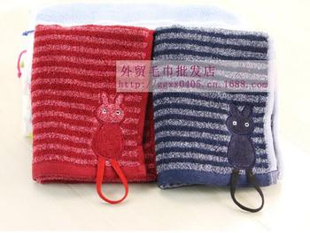 100pcs/lot! Lovely Cat Towel Home Furnishing Thickened Towel Gift Face Towels Cotton Kids Sports Washcloth High Quality Healthy