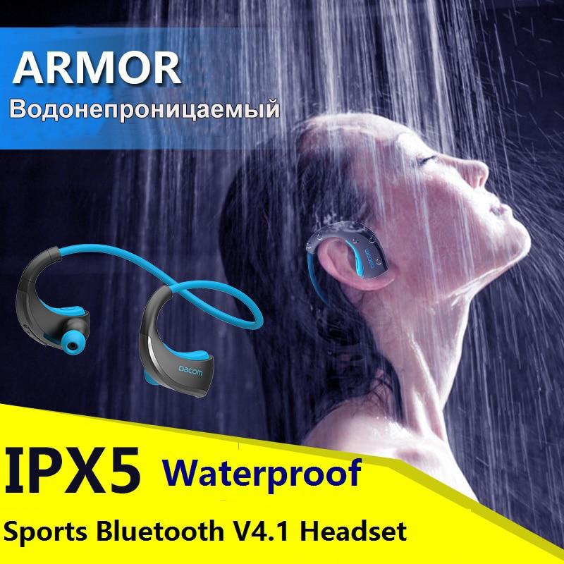 bilder für DACOM Rüstung IPX5 Wasserdicht Sport Headset Drahtlose Bluetooth V4.1 Kopfhörer ohrbügel Kopfhörer mit Mic Musik Spielen