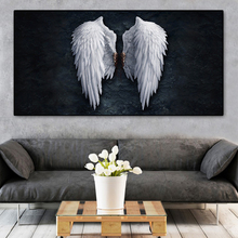 Pósteres e impresiones de pared vintage con alas de Ángel en blanco y negro, pinturas en lienzo, alas, imagen artística para pared, para sala de estar