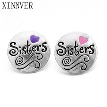 10Pcs/lot 18mm Metal Sisters Snap Button Bracelet Fashion DIY Jewelry For Charm Watches Women ZA439