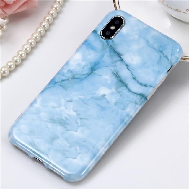 c4f3035719 IMD Blue Marble Phone Case For iPhone 7 7Plus Soft Sea Blue Ocean Capa For  iphone X 6 6s 8 8plus 6plus 6splus TPU Art Cover