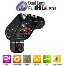 Двойной объектив Видеорегистраторы для автомобилей приборной панели Камера C10s плюс Full HD 1080 P 2.0 дюймов ЖК-дисплей 170 градусов Сенсор видео Регистраторы регистраторы