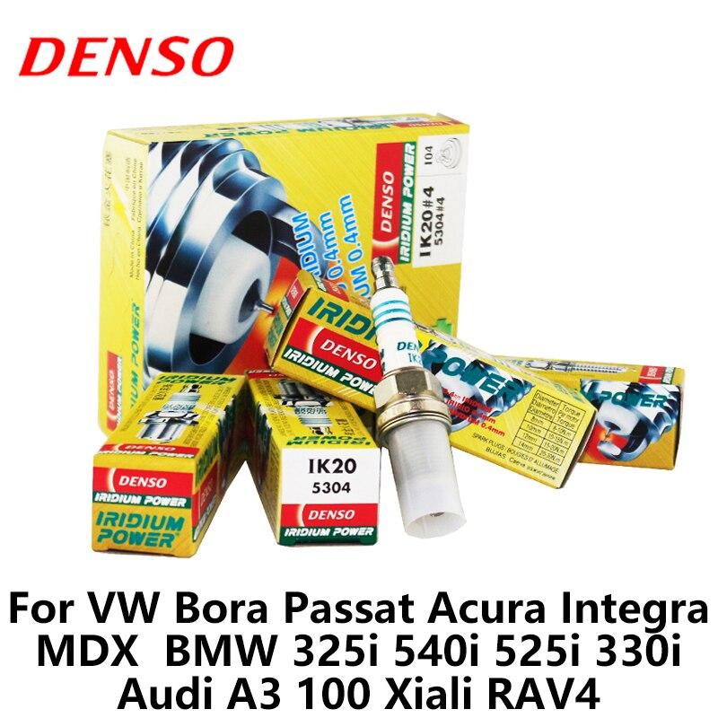 4 pièces/ensemble DENSO voiture bougie d'allumage pour Volkswagen Jetta Broa Bettle Passat B5 Lavida Touran Toyota RAV4 Ford Fiesta IK20 Iridium