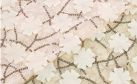 1 yard Ivory Lace Fabric top quality, Embroidered Sequine, Retro Floral Pattern, 3D Chiffon Sequined tulle ground fabric  MF049