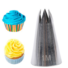 Bico de aço inoxidável aberto estrela ponta pastelaria cookies ferramentas de confeitaria bicos de tubulação bolo decoração cupcake cria gota flor #1m