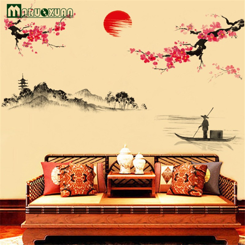 -Hot-Sun-Plum-Flower-Decoration-On-The-Wall-The-Sitting-Room-The-Bedroom-Wall-Stick (1)
