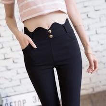 Hot Sale 2019 Spring Summer Women Slim Casual Elastic Ankle-Length Pants Hight Waist Pants Pencil Pencil Pants Plus Size цены