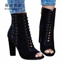 2018 Women Sexy High Heels Pumps New Gladiator Women Peep Toe Lace Up High Heels Shoes Women Fashion Cross Tied Party Pumps
