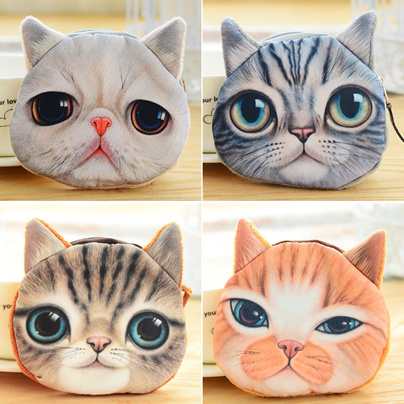 Coin Purses Cheap Sale Gubintu 5 Colors 3d Cat Meow Star Coin Purses Zipper Women Animal Printed Card Holders Pouch Key Cat Wallets Handbag Coin Purses & Holders
