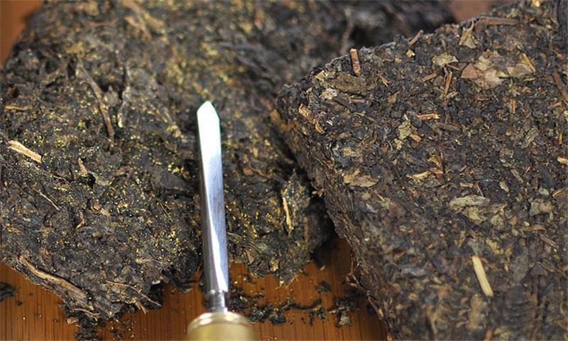 C-PE091 Premium nature chinese black tea 338g antifatigue Hunan dark tea decompress Jinhua Fu brick post fermented tea