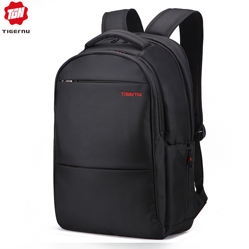 Tigernu Large Capacity 31cm 42cm 17inch Laptop Backpacks Men Water Repellent Anti theft Black Backpack Bag