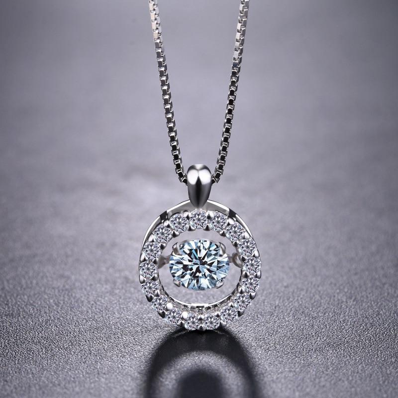 Collar de plata 925 cristalino de la manera europea colgantes - Joyas - foto 5