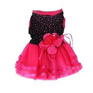 Image 2 - כלב הגעה חדש עלה פרח גזה טוטו שמלת חצאית גור חתול נסיכת בגדי הלבשה שמלת לכלבים כלב תלבושות
