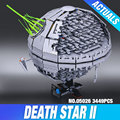 НОВЫЙ ЛЕПИН 05026 Звездные войны Звезда Смерти второго поколения 3449 шт. Строительный Блок Кирпич 10143 Игрушки Совместимы с игрушками