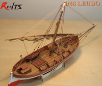 RealTS בחיתוך לייזר אביזרי דגם מפרשית עץ ים תיכוני עתיק עץ ספינת דגם ערכות מודל מאתגר