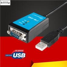 Usb para rs232 com série de entrada db9, adaptador de cabo de chipset ftdi232 para windows 7 8.1 xp vista mac os usb rs232 com anel magnético