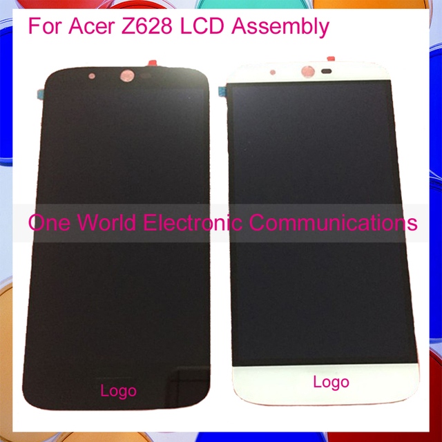 Blanco negro de alta calidad para acer liquid zest plus z628 pantalla completa pantalla lcd con digitalizador de pantalla táctil completa asamblea