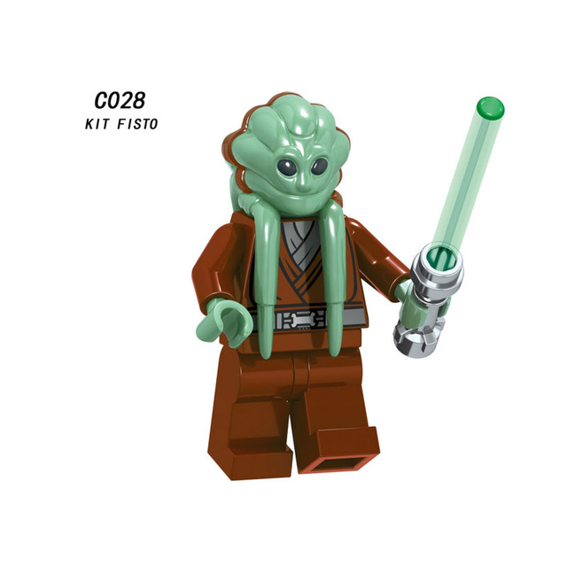 Single Sale Super Heroes Star Wars Kit Fisto 028 Model Building Blocks Figure Bricks Toys kids gifts Compatible Legoed Ninjaed