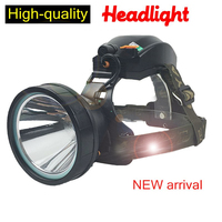 Super bright headlights light charging head mounted flashlights long range hunting hunting yellow light lamp