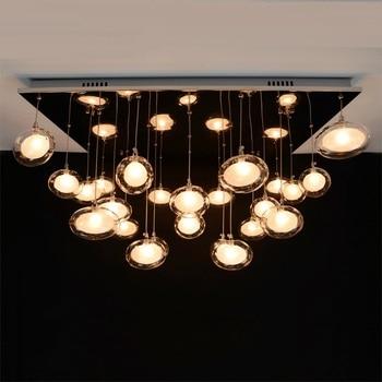 Nordic simple restaurant chandelier modern art living room lamp bedroom study LED light creative glass egg chandeliers ZCL