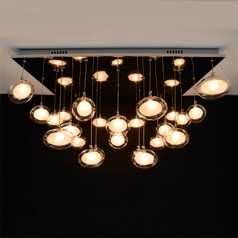 Nordic simple restaurant chandelier modern art living room lamp bedroom study LED light creative glass egg chandeliers ZCL