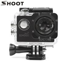 SHOOT 40M Diving Waterproof Housing Case for SJCAM SJ4000 SJ 4000 WIFI Series EKEN h9 h9r Camera Case Action Camera Accessories action camera sj 4000 accessories soft silicone protective case lens cover soft rubber shell for sjcam sj4000wifi sj4000