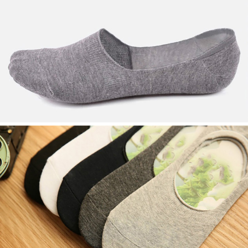 Mens sock slippers Bamboo fibre Non-slip Silicone Invisible Boat Socks Spring Summer Fashion Male ankle socks 5pairs/lot New