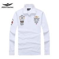 New Models Aeronautica Militare Camisa Masculina Polo Mens Long Sleeve Polo Shirt Brands Air Force One