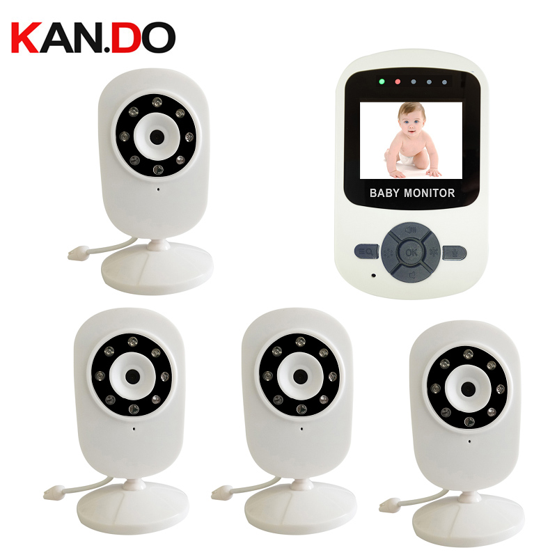 4 camera option 2 4GHz Digital Wireless Baby Monitor camera LCD Display Video 2 way Talk