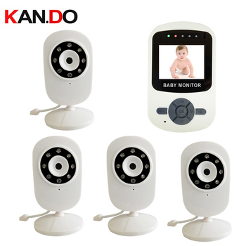 4 camera option 2.4GHz Digital Wireless Baby Monitor camera LCD Display Video 2-way Talk Security Camera System cctv camera