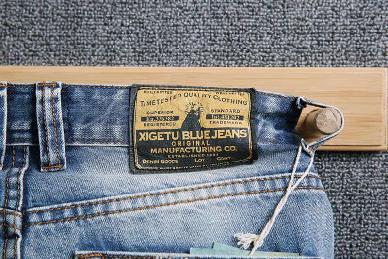 Модные уличные мужские джинсы светло-голубого цвета с вышивкой, дизайнерские рваные джинсы для мужчин, облегающие Лоскутные белые потертые джинсы в стиле хип-хоп