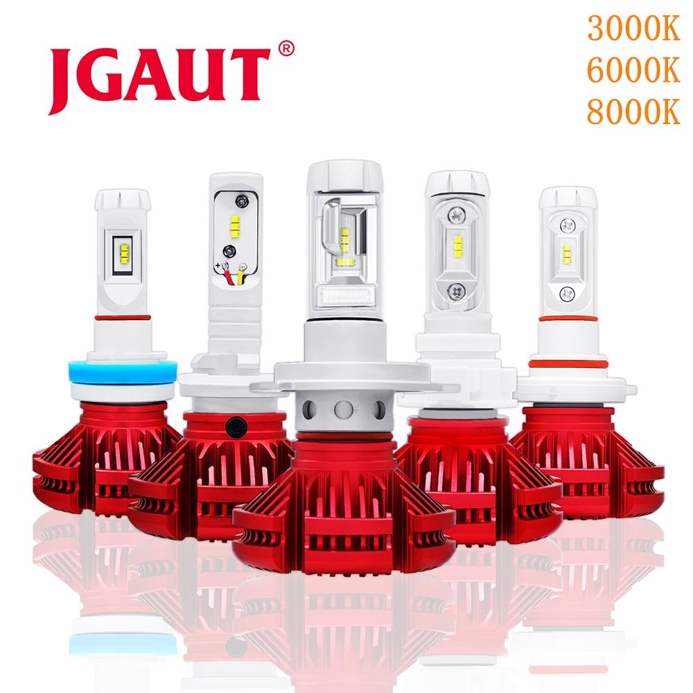 JGAUT H7 LED Car Headlight H1 H3 Car H4 LED Automotive Lamp X3 H11 9005 9006 CSP 16000LM 12V 3000K 6000K 8000K Fog Light kinklight 08210 01 3000 6000k
