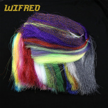 Wifreo 12 Bags Fishing F Treble Hook Flash Tinsels Pearl Silver Pink Black Green 29 Colors