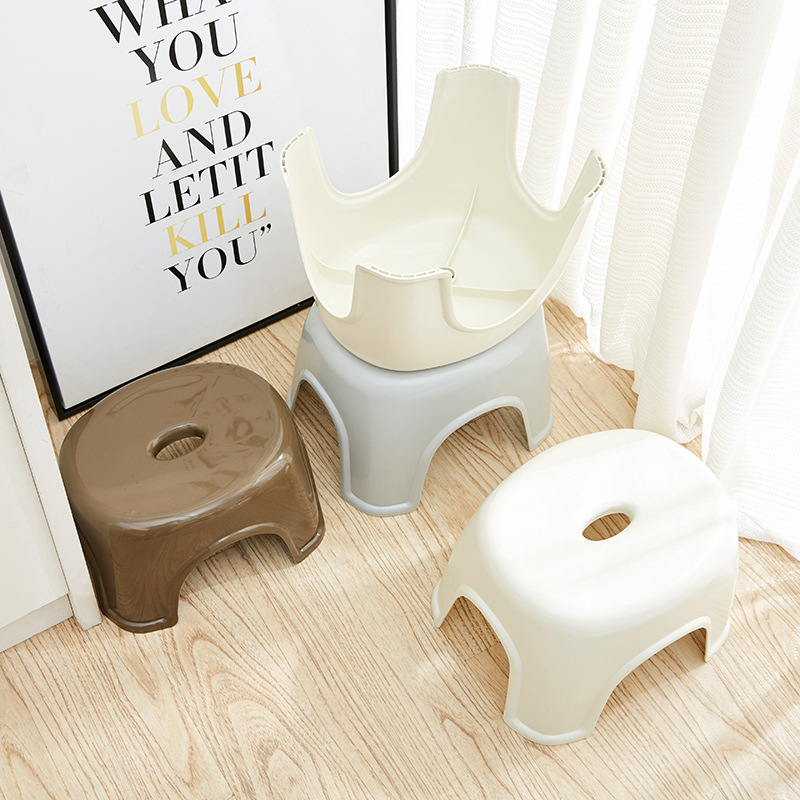 Image 2 - Fashion Simple NonSlip Bathroom Stool Thick Plastic Function Shower Stool Creative Small Bench Bathroom Furniture Home Furniture-in Bathroom Chairs & Stools from Furniture