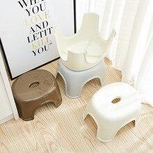 Fashion Simple NonSlip Bathroom Stool Thick Plastic Function