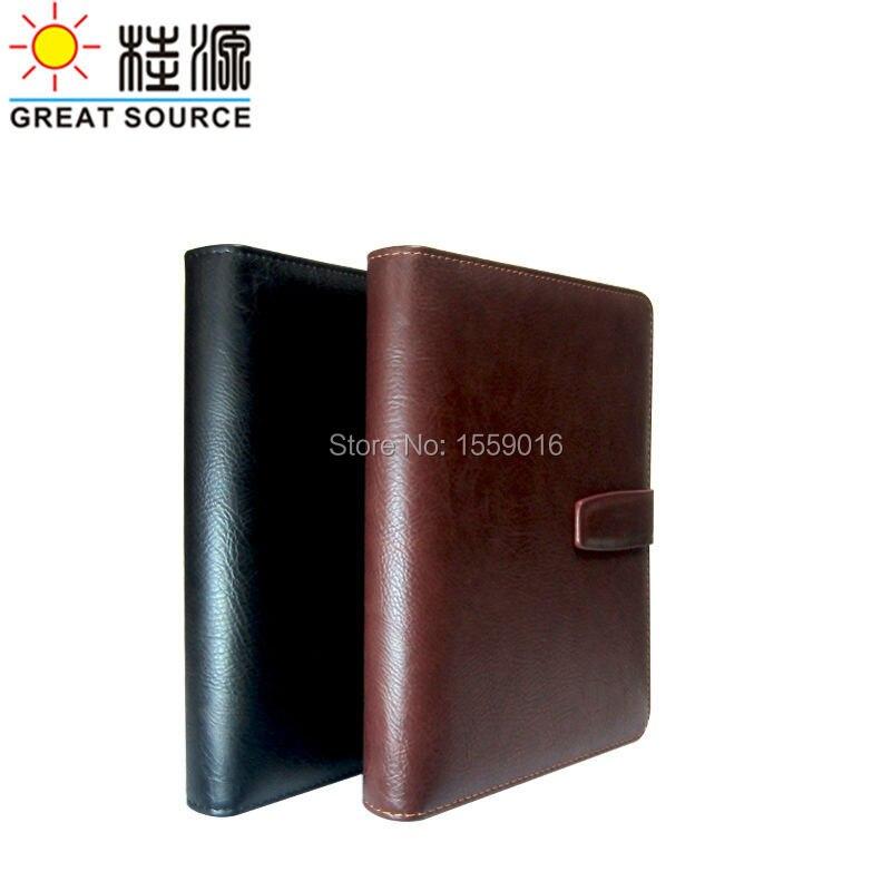 Calendar Notebook App : A ring binder notebook leather cover calendar