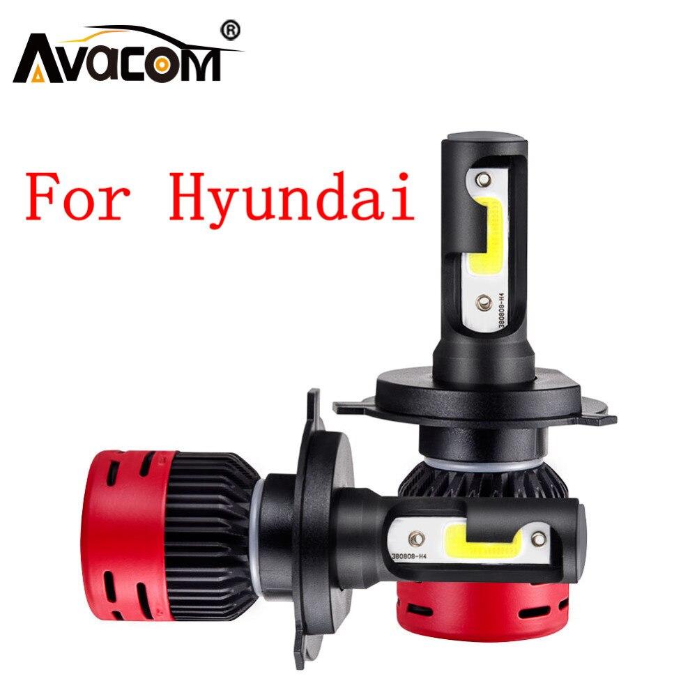 LED H11 faro bombilla LED H1 H4 H3 mazorca 6500 K/4300 K 8000Lm 12 V Auto luz para hyundai Tucson/IX35/Creta/Solaris/I30/Accent