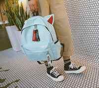 Hot Fashion Canvas Backpack For Women Girls Satchel School Bags Cute Rucksack School Backpack children Cat Ear Cartoon