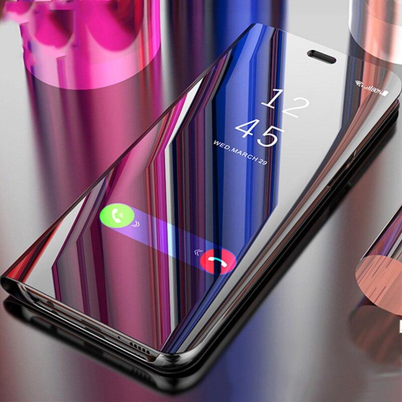 Touch Flip Stand Case For vivo V9 X20 X21 X23 Y85 Y97 Y71 Y83 Pro X20 Plus NEX Luxury Mirror 360 Full Cover for vivo nex x20plus