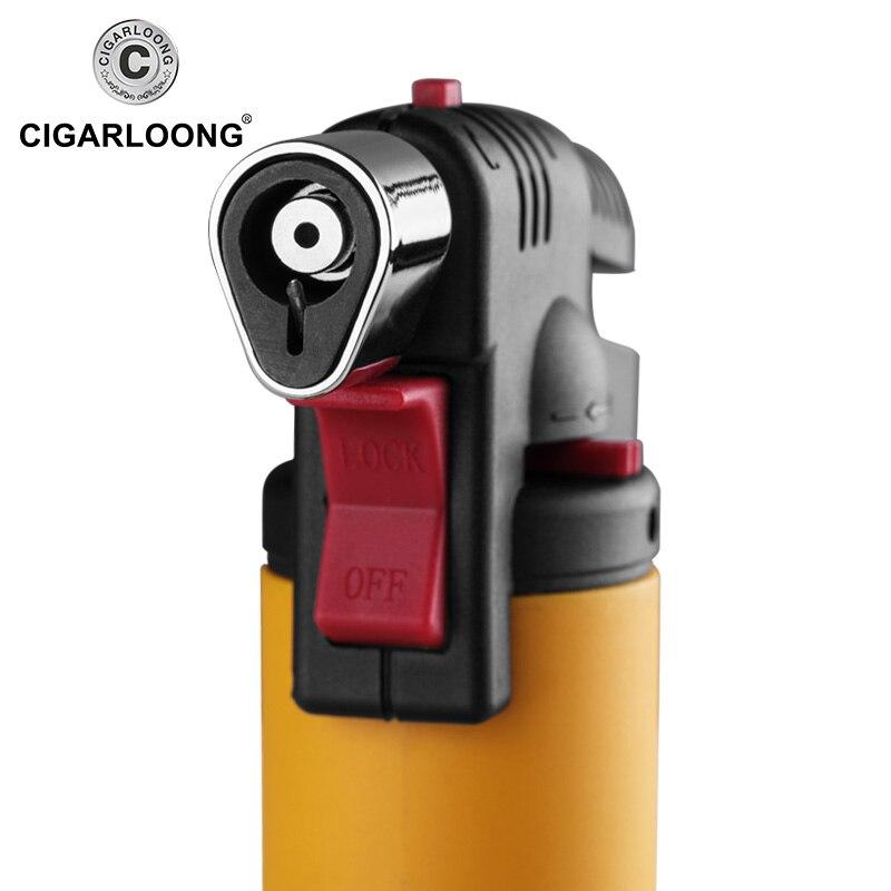 Купить с кэшбэком Torch Turbo Lighter 2018 New Spray Gun Jet Butane Cigar Lighter Gas Cigarette Windproof Lighter No Gas CLB-B0001