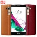 Разблокирована Оригинальный LG G4 H815T 4 Г LTE Quad core 16.0 МП камера Android 32 ГБ ROM 5.5 ''1440x2560 пикселей сотовый телефон