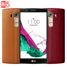 """Разблокирована оригинальный LG G4 H815 4 г LTE Quad Core 16.0 Мп камера android 32 ГБ ROM 5.5 """"1440 х 2560 пикселей мобильного телефона"""